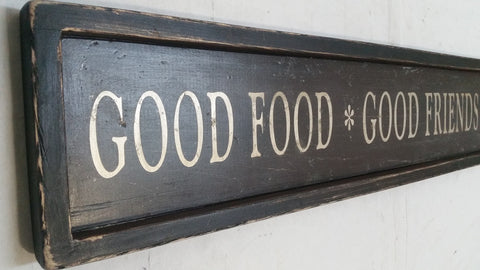 good friends food sign closeup
