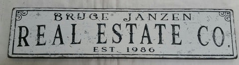 Bruce Janzen Real Estate sign