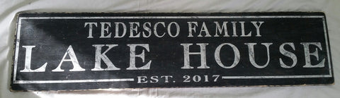 Tedesco Family Lake Sign