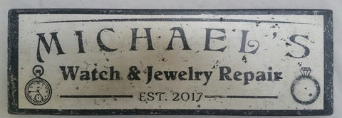 Michael's Watch Jewelry Sign