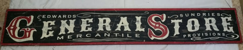 General Store Black and Red Sign