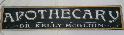 Personalized Apothecary Sign