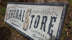 General Store Sign Close Up