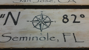 custom nautical coordinate sign