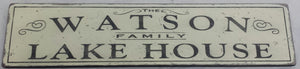 Personalized Lake House Wood Sign - Antique Style Decor