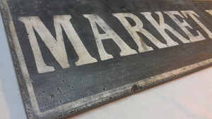 Market Fresh Wood Sign