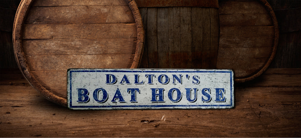 Vintage Boat House Sign