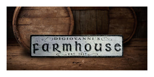 personalized farm house sign