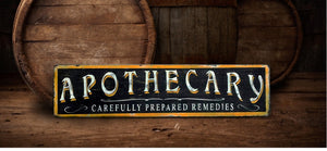 Apothecary Rustic Wood Sign - Antique Style