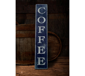 Vertical Coffee wood sign