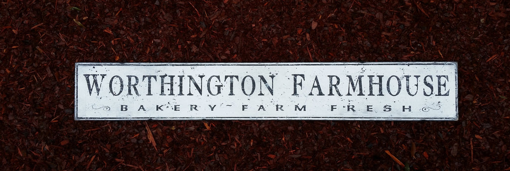 Farmhouse Bakery Wood Sign Antique Style Sign Treasure
