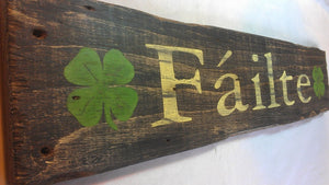Failte Irish Sign