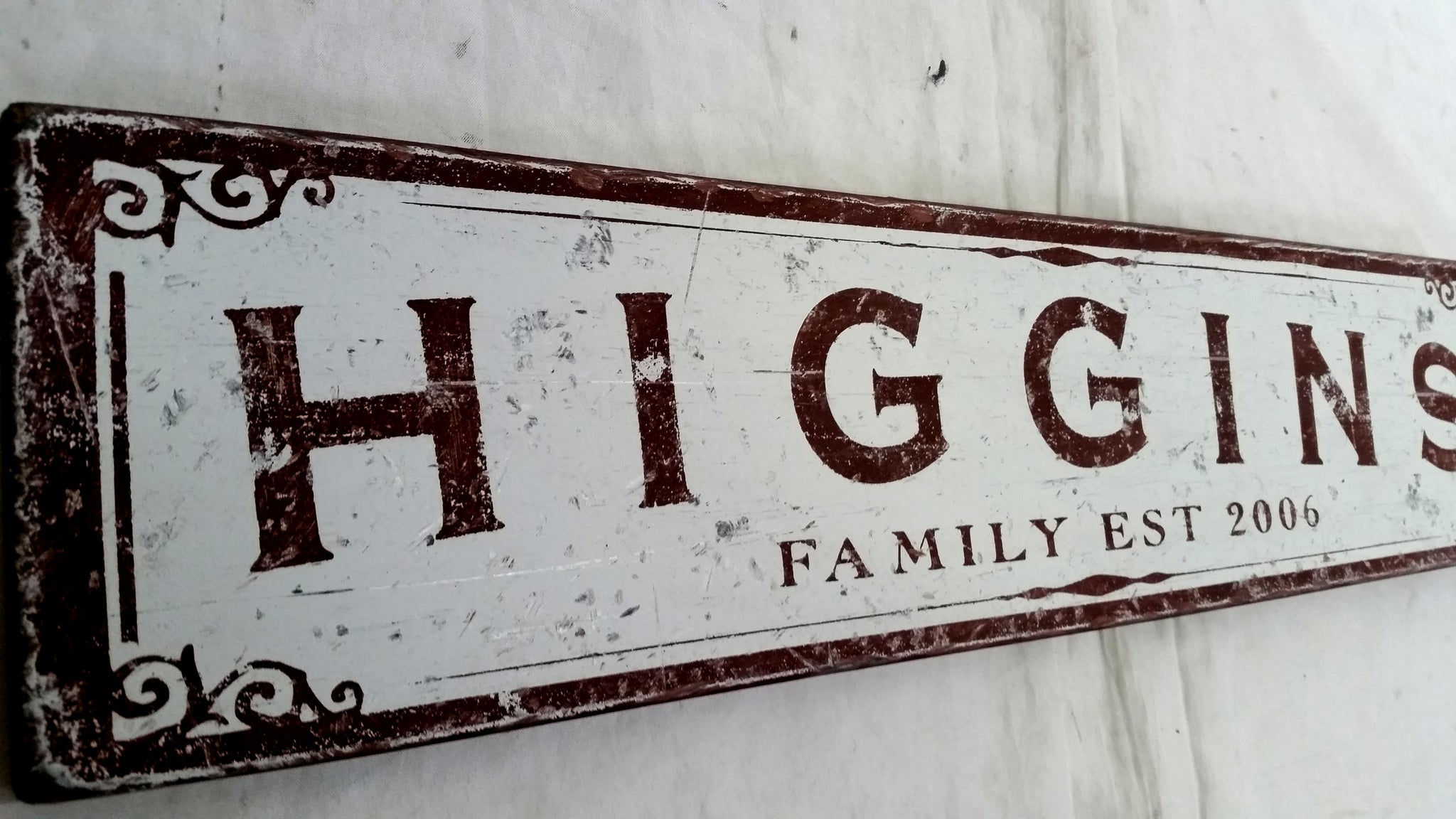 Personalized Family Name Wood Sign - Antique Style