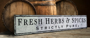 Fresh Herbs and Spices Wood Sign