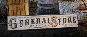 Sign Treasure General Store