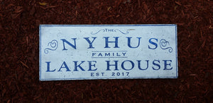 Custom Lake House Wood Sign
