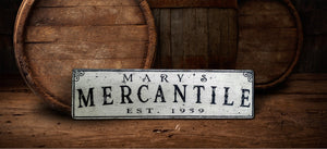Mercantile Wood sign