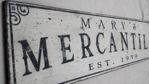 Personalized Mercantile Sign