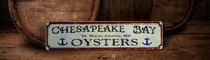 Chesapeake oysters sign