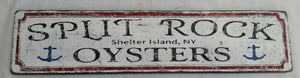 split rock oysters wood sign