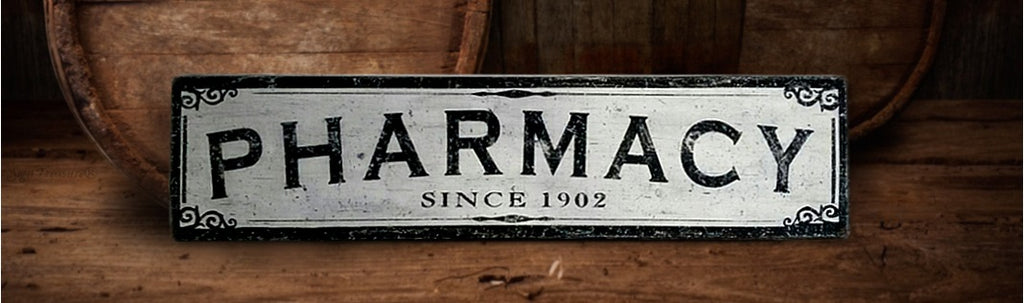 Pharmacy Wood SIgn