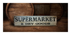 SuperMarket wood sign