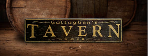 Tavern Wood sign