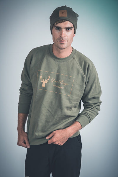 Olive french terry sweatshirt