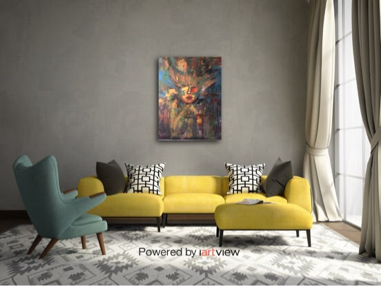 Abstract paintings, can be custom made. Original mixed media acrylic painting.
