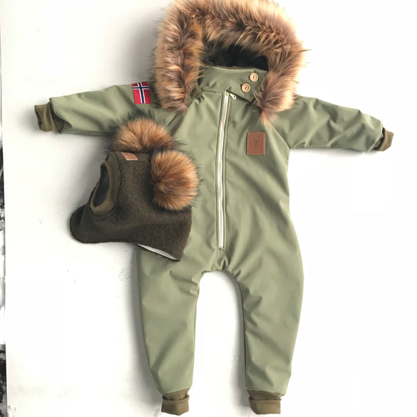 Soft Shell faux fur suit