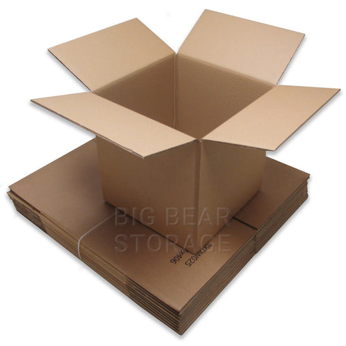 "Medium Double Wall Cardboard Boxes (16""x16""x16"")"