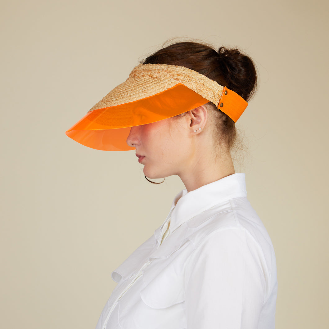 Visière Billiard orange - LOLA HATS