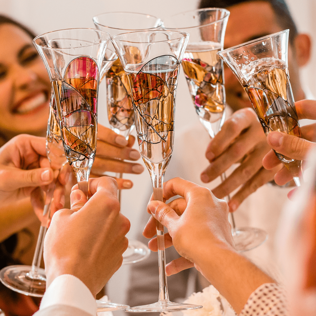 With 'Sagrada' Champagne Flutes every celebration feels like a Royal event!