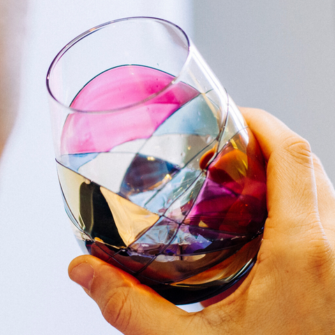 stemless wine glass for reds