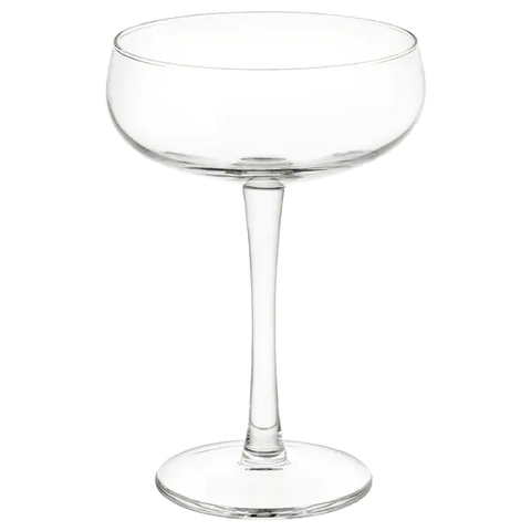 Traditional Champagne glasses were designed for gulping Champagne like shots of tequila