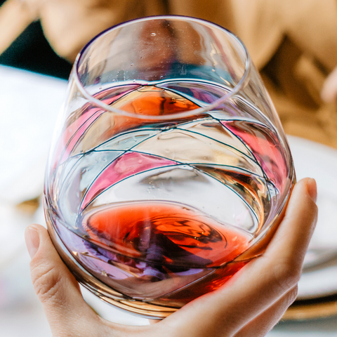 'Sagrada' Stemless Goblet Wine Glasses