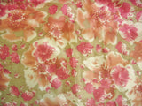 "Sunrise Hibiscus Shiny Solid Pink & Brown Red Floral Dust Ruffle Pleated Bed Skirt - 14"" Drop  (BS-BM465L-1) - Stores Basement - Discount Bedding"