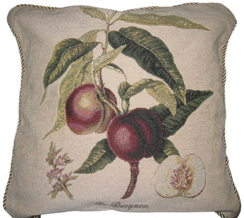 "Nectarine Fruits Elegant Novelty Woven Square Accent Cushion Cover Throw Toss Pillow Case - 18"" - 1-Piece - Stores Basement - Discount Bedding"