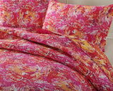 Hawaiian Breeze Pink & Red Reversible Patchwork Quilted Coverlet Bedspread Set (KBJ1625) - Stores Basement - Discount Bedding
