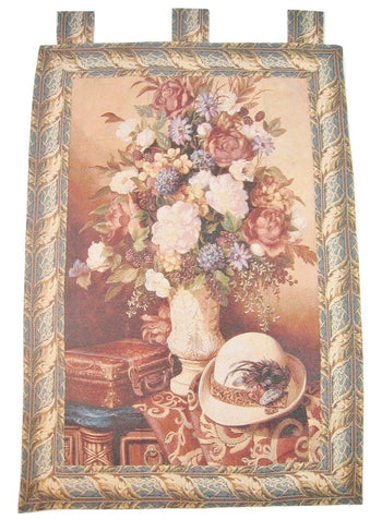 "Picnic Getaway Bold Fusion Artistic Elegant Woven Fabric Baroque Tapestry Wall Hanging - 36"" x 50"" - Stores Basement - Discount Bedding"