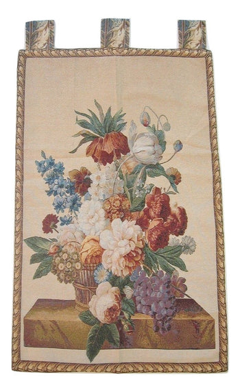 "Spring Harvest Elegant Woven Fabric Baroque Tapestry Wall Hanging - 28"" x 43"" - Stores Basement - Discount Bedding"