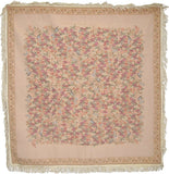 Woven Wildflower Wonderland Floral Beige Tan Square Shaped Tapestry Table Cloths - Stores Basement - Discount Bedding