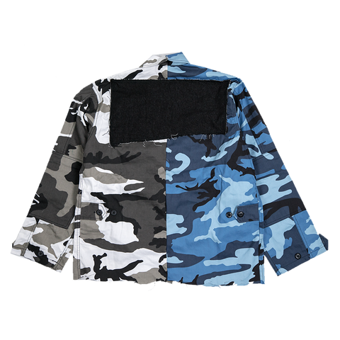 Blue/Grey Camo Full Body Jacket