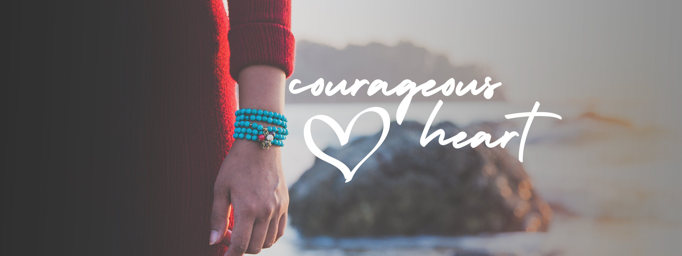 This is Eden Jewelry | Courageous Heart wrapped beaded jewelry