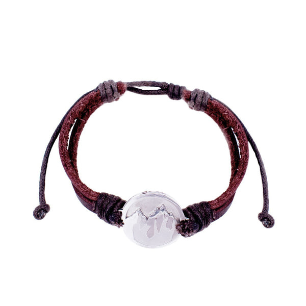 Faith to Move Mountains Leather Bracelet