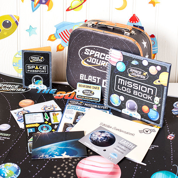 Space themed monthly subscription gift for kids