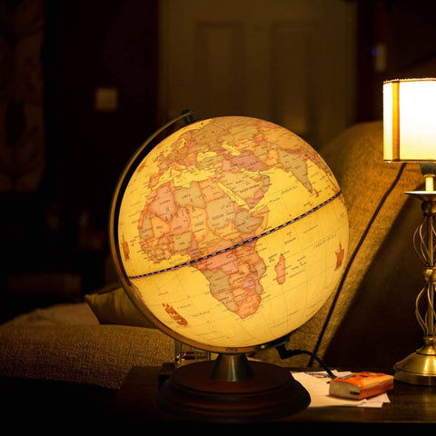 TTKTK Illuminated World Globe for Kids