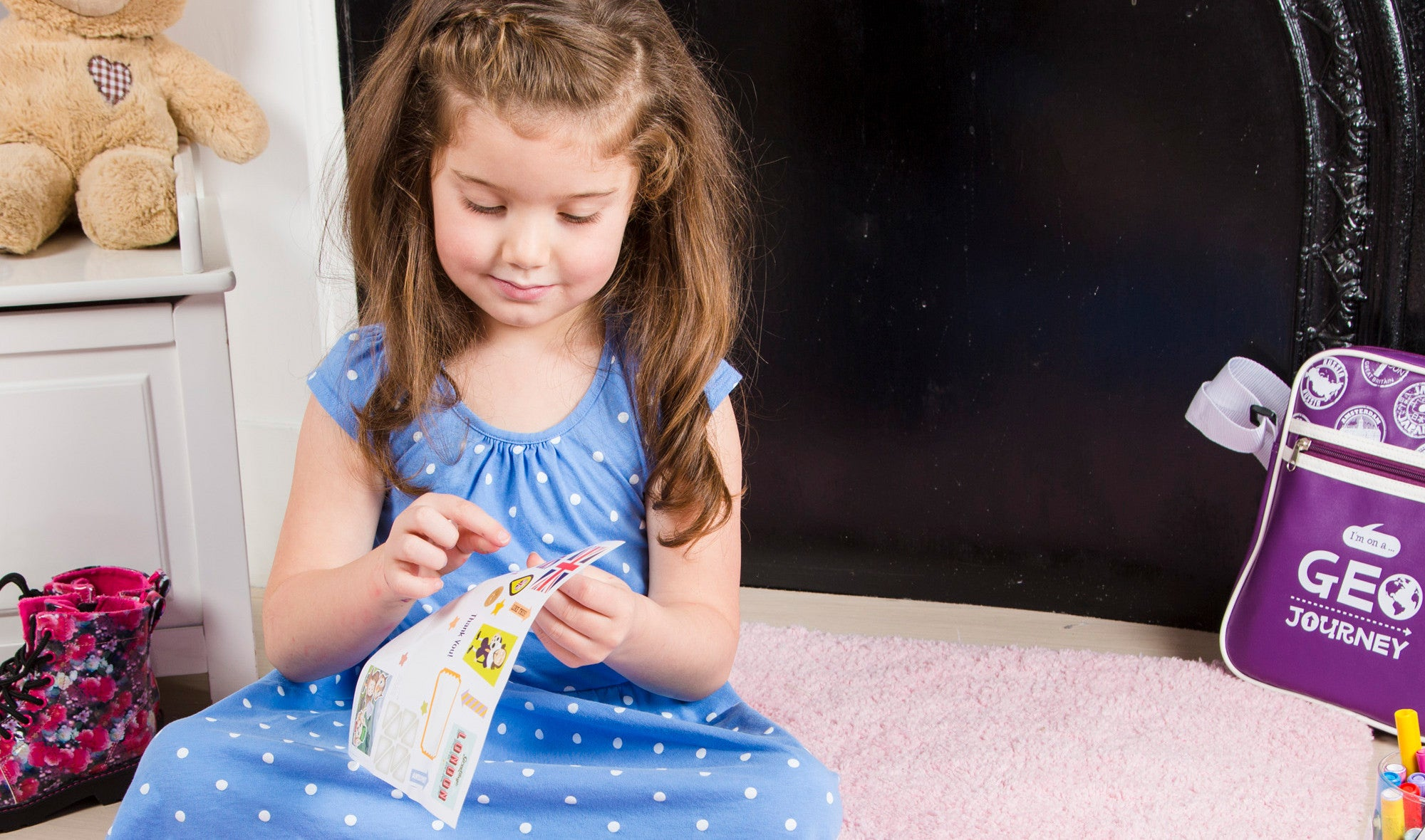 Girl enjoying educational monthly subscription box
