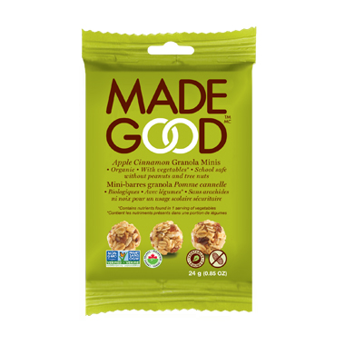 Made Good - Organic Granola Apple Cinnamon Minis (12 x 24g packs)