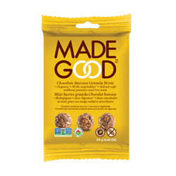 Made Good - Organic Granola Chocolate Banana Minis (12 x 24g packs)